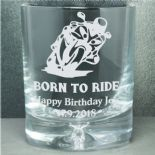 Whisky Glass,  Biker Personalised ref BPWG